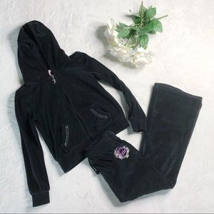 Juicy Couture Matching Sets - Girls Juicy Couture velour tracksuit